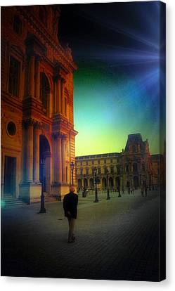 Alone In Paris Canvas Print by Carrie OBrien Sibley