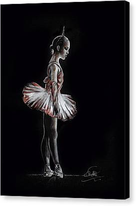 Alone In The Dark Canvas Print by Ole Hedeager Mejlvang