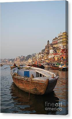 Canvas Print - Alone On The Ganges by Jen Bodendorfer