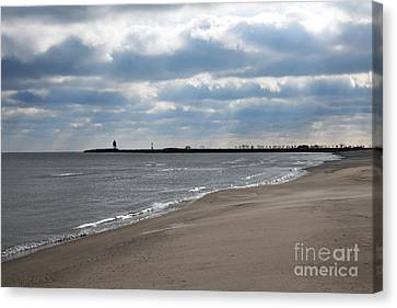 Along The Shore Canvas Print by Dan Holm