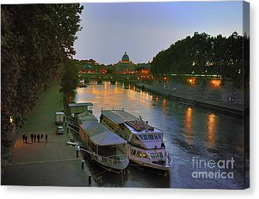 Along The Tiber Canvas Print by Ed Rooney