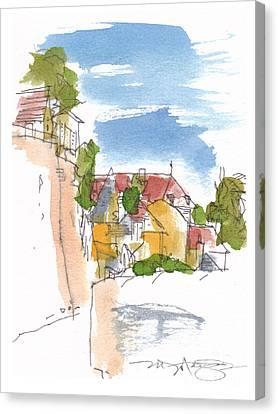 Along The Town Walls Canvas Print