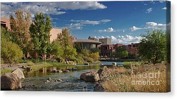 Canvas Print featuring the photograph Along The Wild Horse River by Jim Moore