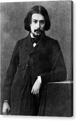 Alphonse Daudet 1840-1897 French Canvas Print by Everett