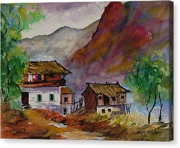 Alpine Hamlet Canvas Print