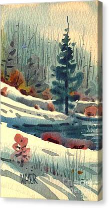 Alpine Meadow Canvas Print by Donald Maier