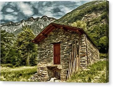 Alpine Ruins Canvas Print by Jeff Kolker