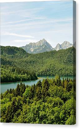 Alps From Bavaria Canvas Print
