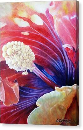Al's Hibiscus Canvas Print by Debra Spinks