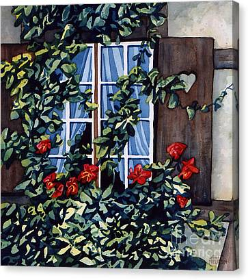 Alsace Window Canvas Print