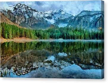Alta Lakes Reflection Canvas Print by Jeff Kolker