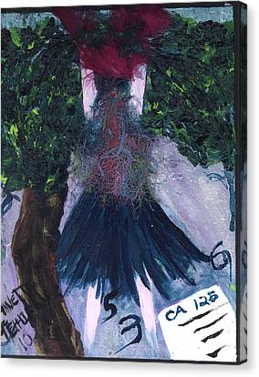 Althea Awaits Her Ca 125 Report Canvas Print by Annette McElhiney