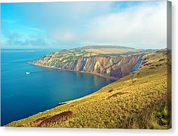 Alum Bay - Isle Of Wight Canvas Print by Michael Stretton
