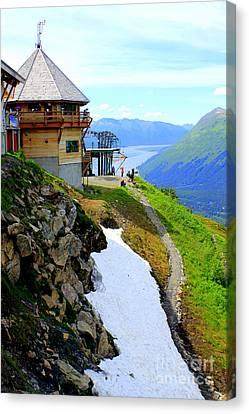 Canvas Print featuring the photograph Alyeska Ski Resort Alaska by Kathy  White