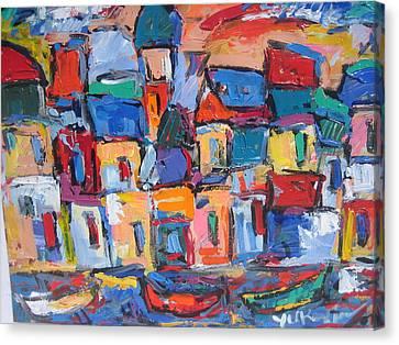 Amalfi 06 Canvas Print by Len Yurovsky