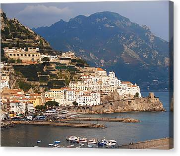 Villa By The Sea Canvas Print - Amalfi by Bill Cannon