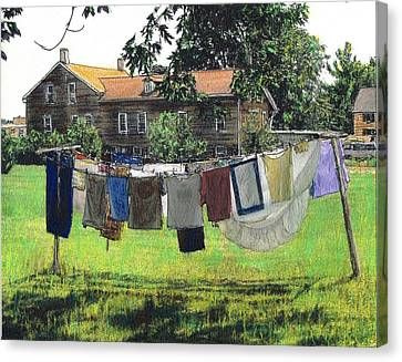 Amana Laundry Canvas Print by Randy Sprout