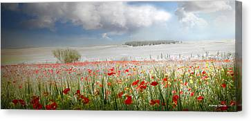 Canvas Print featuring the photograph Amanecer En Ajofrin by Alfonso Garcia