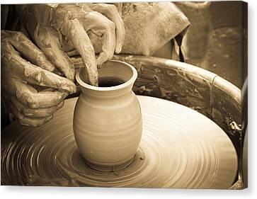 Amazing Hands V Canvas Print by Emanuel Tanjala