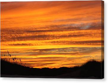 Amazing Sunset Over Obx Canvas Print by Kim Galluzzo Wozniak