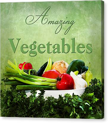 Amazing Vegetables Canvas Print by Trudy Wilkerson