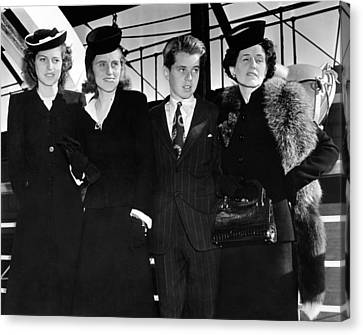 Ambassador Joseph Kennedys Wife Canvas Print by Everett