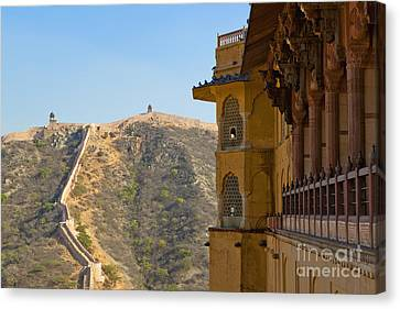 Amber Fort And Wall Canvas Print by Inti St. Clair