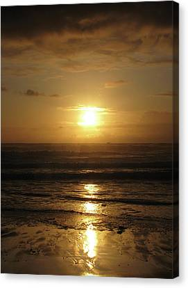 Amber Sunset Pacific IIi Canvas Print