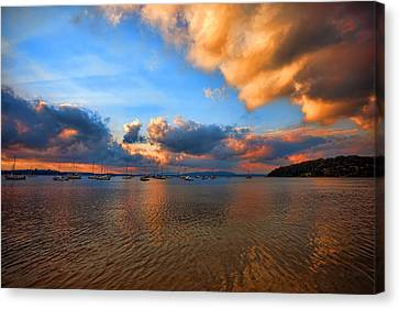 Ambers Sunset Canvas Print by Paul Svensen