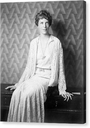 Amelia Earhart 1897-1937, 1932 Portrait Canvas Print by Everett