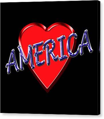 America Canvas Print by Andrew Fare