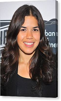 America Ferrera At The After-party Canvas Print by Everett