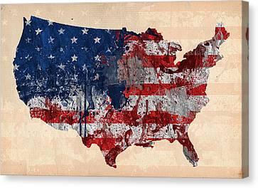 America Canvas Print by Mark Ashkenazi