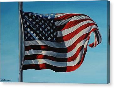 America The Beautiful Canvas Print by Daniel W Green