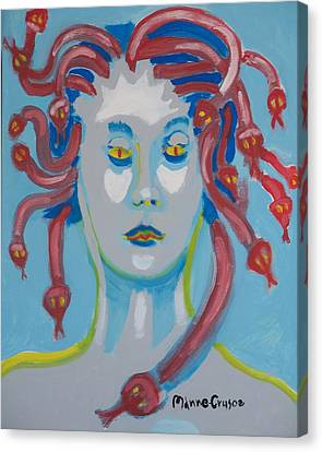 Americaine Medusa Canvas Print by Jay Manne-Crusoe