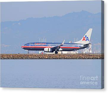 American Airlines Jet Airplane At San Francisco International Airport Sfo . 7d11837 Canvas Print by Wingsdomain Art and Photography