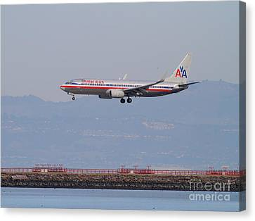 American Airlines Jet Airplane At San Francisco International Airport Sfo . 7d12212 Canvas Print by Wingsdomain Art and Photography