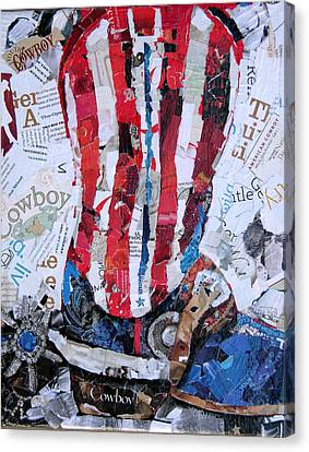 American Boot Canvas Print by Suzy Pal Powell