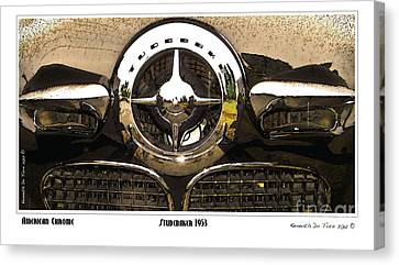 Canvas Print featuring the photograph American Chrome by Kenneth De Tore