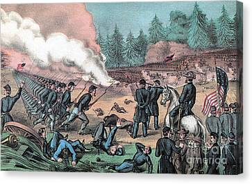 American Civil War, Battle Of Cold Canvas Print