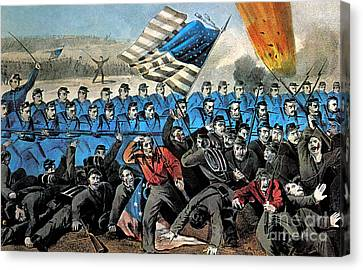 American Civil War, Battle Of Malvern Canvas Print by Photo Researchers
