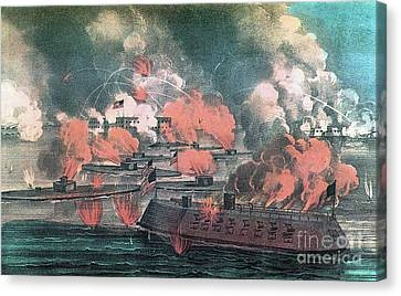 American Civil War, Great Fight Canvas Print by Photo Researchers