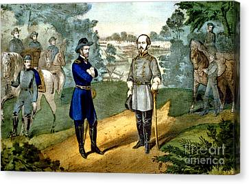 American Civil War, Surrender Canvas Print by Photo Researchers