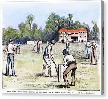 American Cricket, 1882 Canvas Print