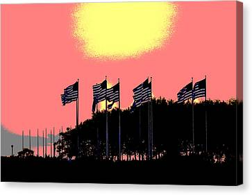 American Flags1 Canvas Print
