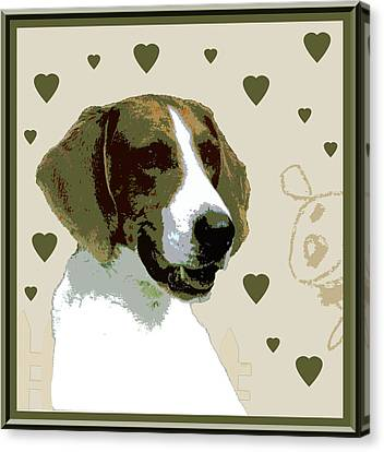 American Fox Hound Canvas Print by One Rude Dawg Orcutt