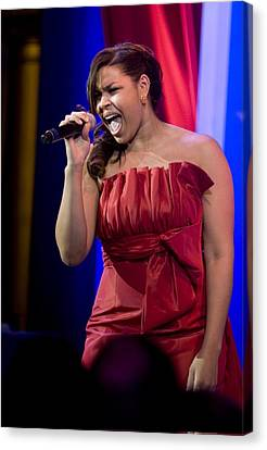 American Idol Jordin Sparks Performs Canvas Print by Everett