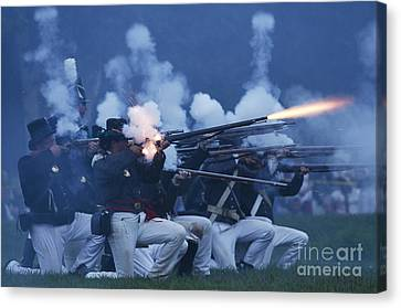 American Night Battle Canvas Print by JT Lewis
