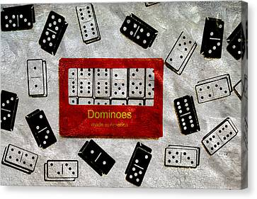 American Passtime Dominoes Canvas Print by Angelina Vick
