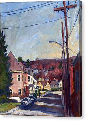 American Street In Autumn Canvas Print by Thor Wickstrom